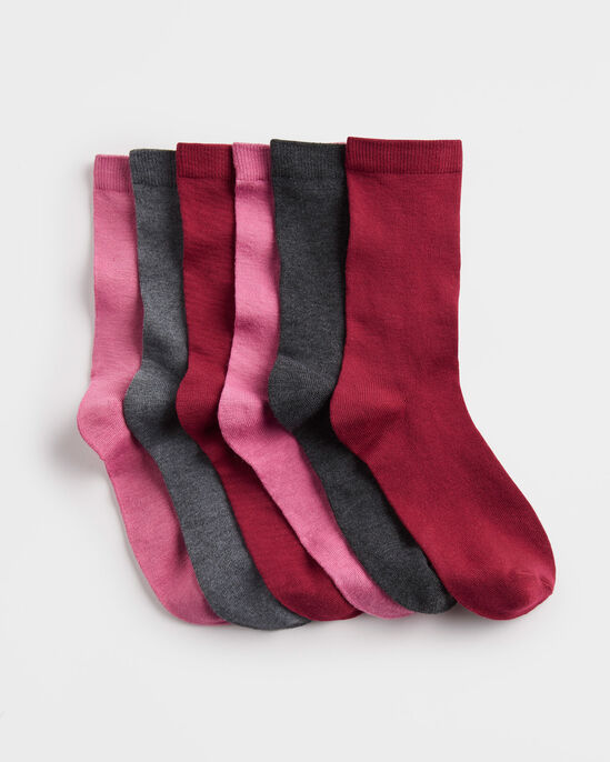 6pk Comfort Top Supersoft Socks