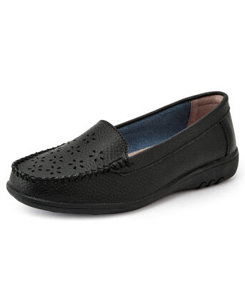 Leather Flexisole Cutwork Loafers