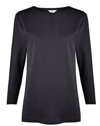 Wrinkle Free 3/4 Sleeve Jersey Top