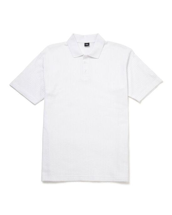 Seersucker Polo Shirt