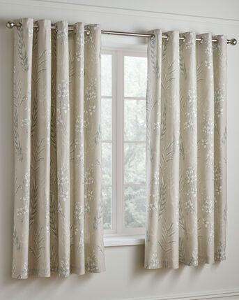 "Howarth 200 Tc Cotton Eyelet Curtains 66x72"""