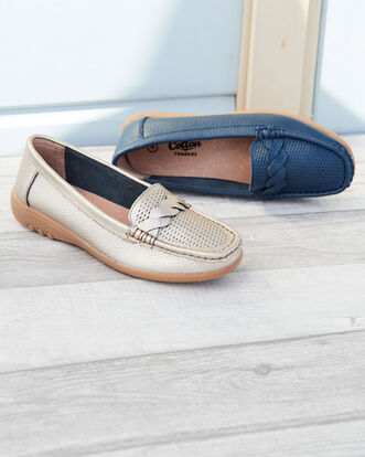 Leather Flexisole Twist Loafers