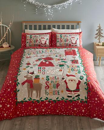 Santa Stop Here Duvet Set