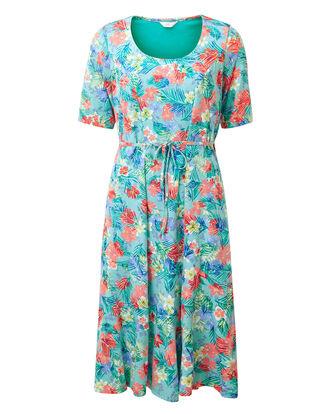 Floral Burn Out Midi Dress