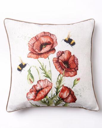 Poppy and Bee Cushion