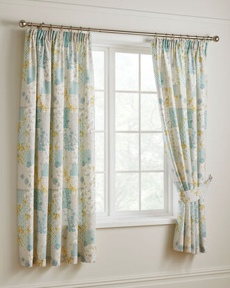 Saskia Pencil Pleat Curtains 66x72""