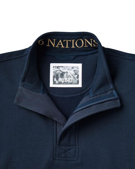 6 Nations Half Zip Sweat Top