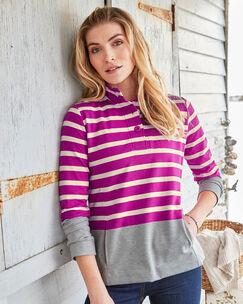 Forever Button Neck Sweatshirt