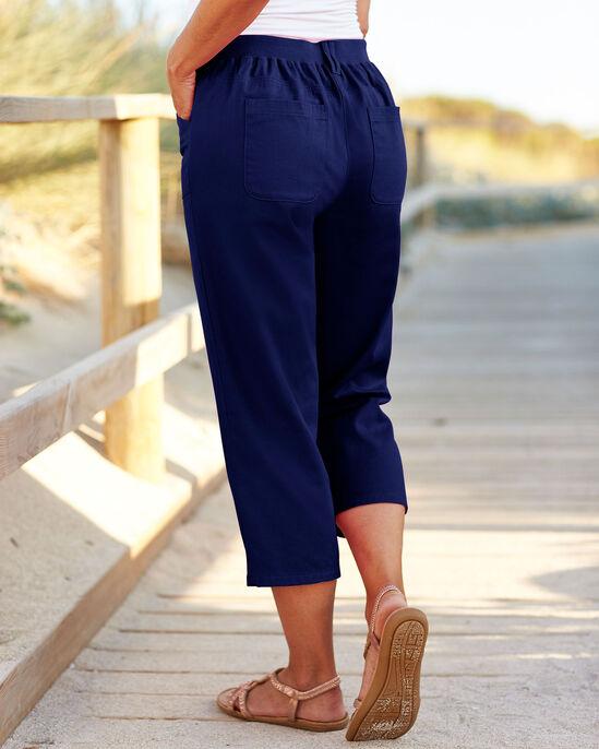 Wrinkle Free Comfort Crop Trousers