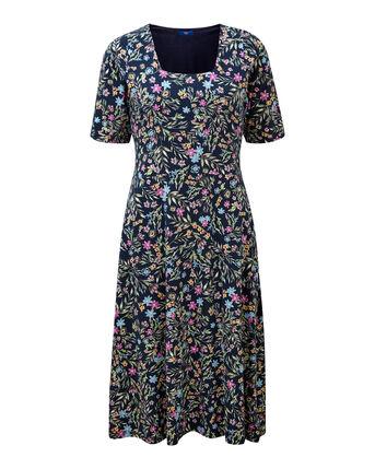 Tummy Control Floral Dress