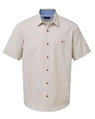 Short Sleeve Linen Look Shirt