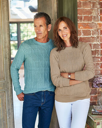 Luxury Linen Rich Cable Knit Jumper