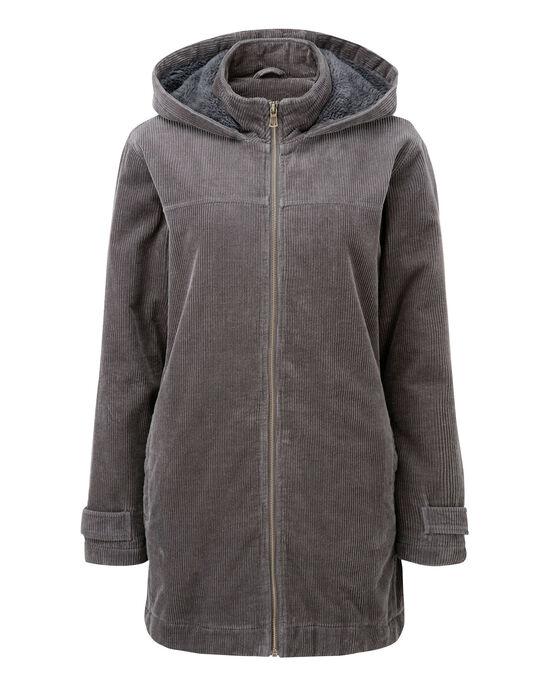Cord Fleece Lined Coat