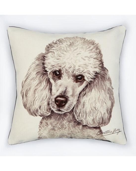 Waggy Dogz White Poodle Cushion