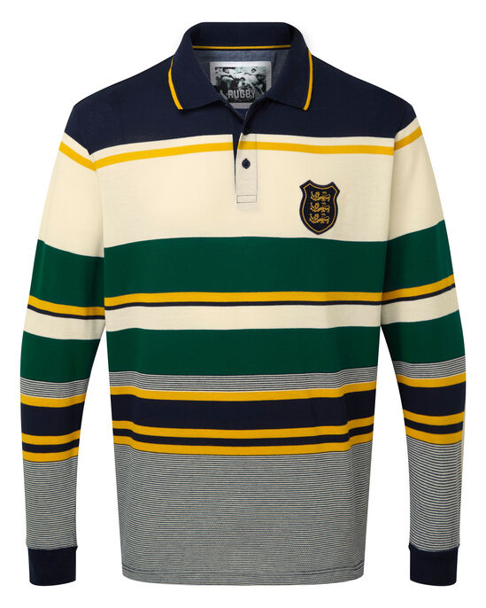 3 Lions Long Sleeve Stripe Polo Shirt