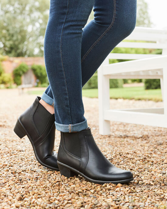 Side Elasticated Heel Ankle Boots