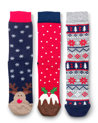 Pack of 3 All-over Christmas Socks