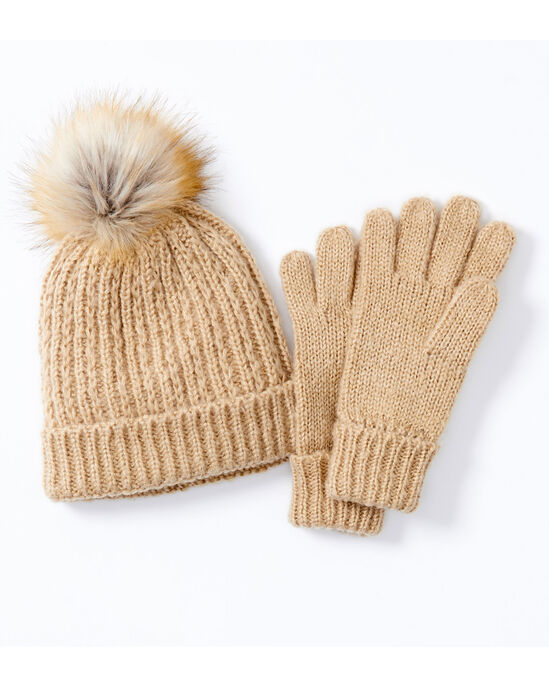 Knitted Hat and Glove Set
