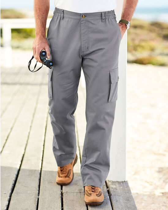 Cargo Side Elasticated Waist Trousers