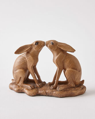 Kissing Hares Ornament