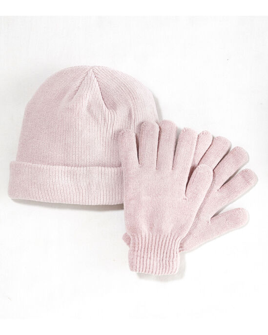 a09b602bbad7e0 Chenille Thermal Hat and Glove Set at Cotton Traders