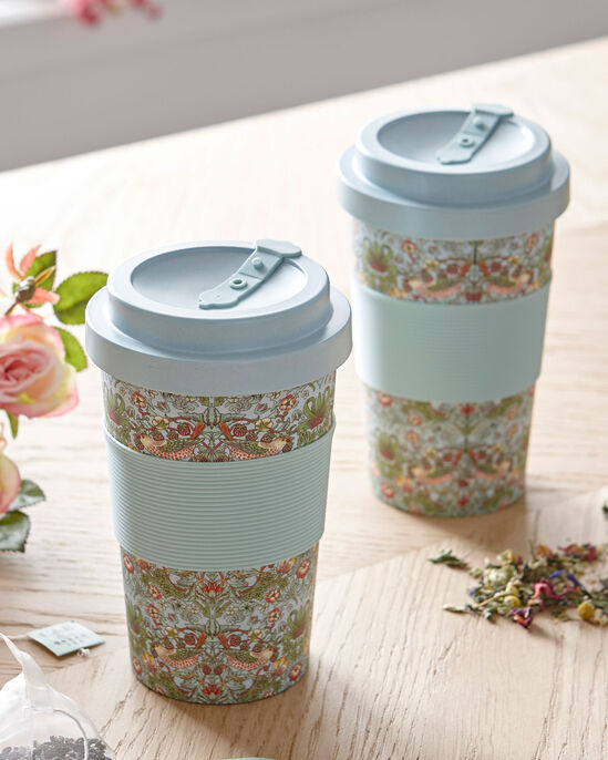 William Morris Strawberry Thief Pack of 2 Travel Mugs