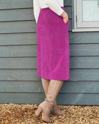 Lila Stretch Cord Midi Skirt