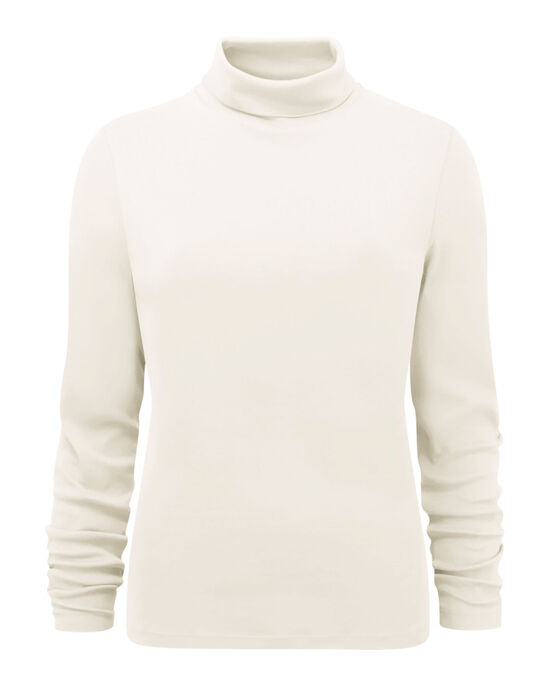Wrinkle Free Roll Neck Top