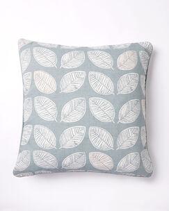Leaf Print Filled Cushion