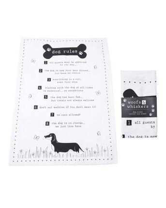 Pet Rules Tea Towel