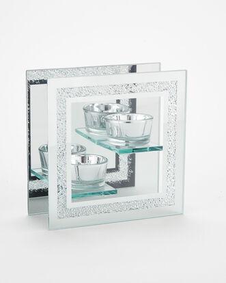 Crystal Edge Double Tea Light Holder