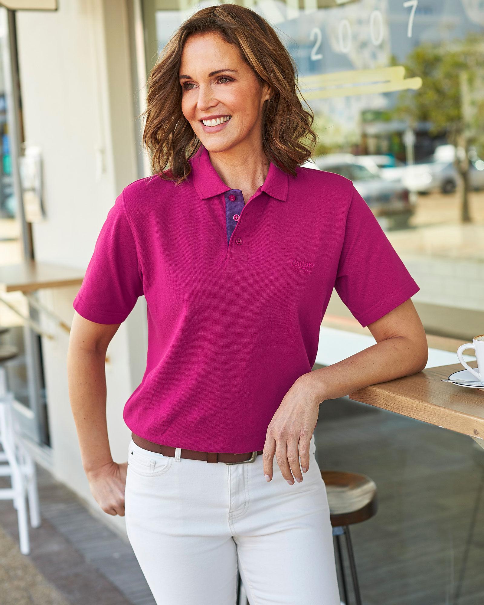 Women's Polo Shirts | Polo Shirts For Women - Cotton Traders