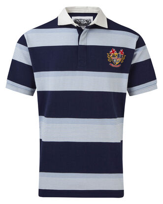 3 Lions Short Sleeve Multi Stripe Rugby Shirt
