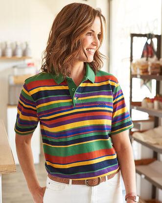 Limited Edition Short Sleeve Stripe Polo Shirt