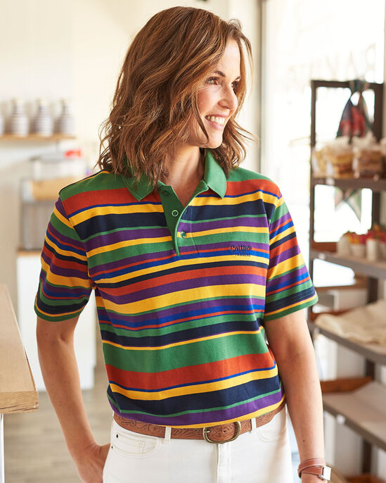 Limited Edition Short Sleeve Stripe Polo Shirt