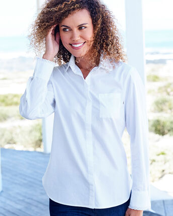 Embroidered Trim Blouse