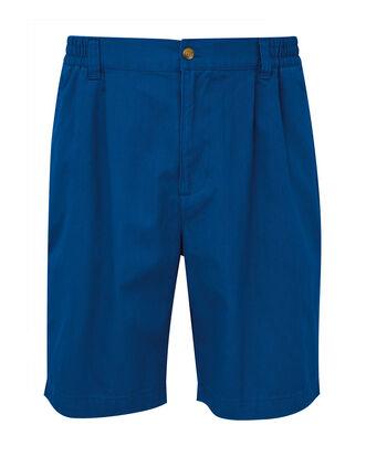 Deep Cobalt Pleat Front Comfort Shorts