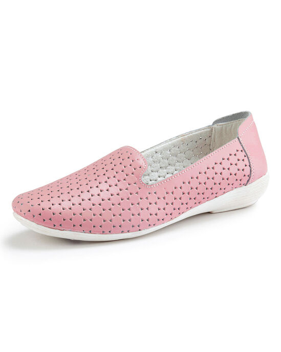 Leather Slip-On Cut-Out Shoes