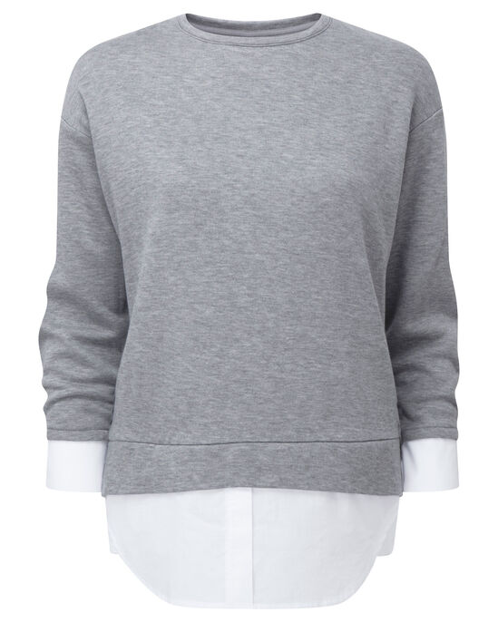 Mock Shirt Sweatshirt