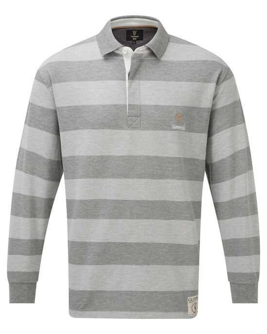 Guinness Long Sleeve Stripe Polo Shirt