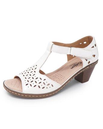 Heeled Cutwork Sandals
