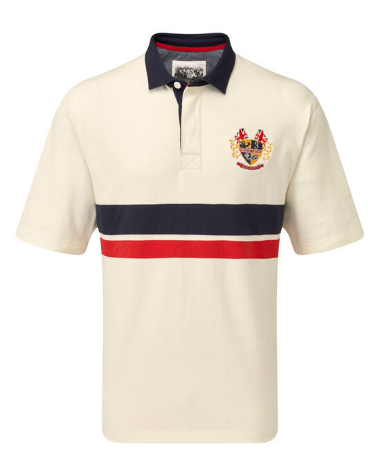 3 Lions Short Sleeve Panel Rugby Shirt at Cotton Traders 0af9d1346