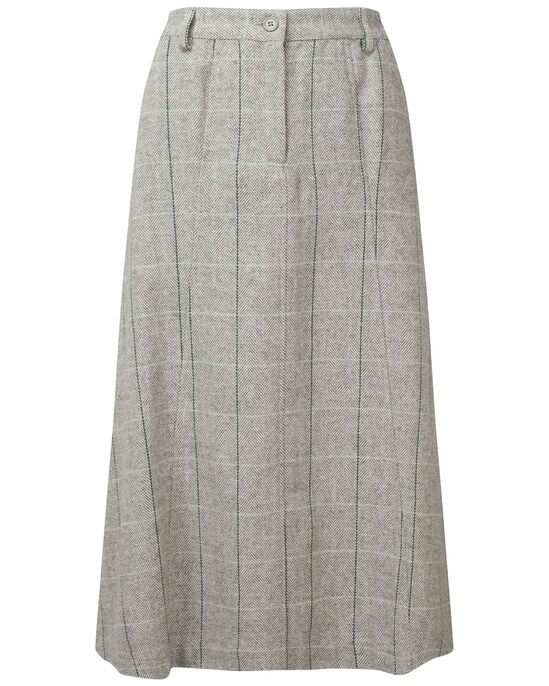 Side Elasticated Waist Check Skirt