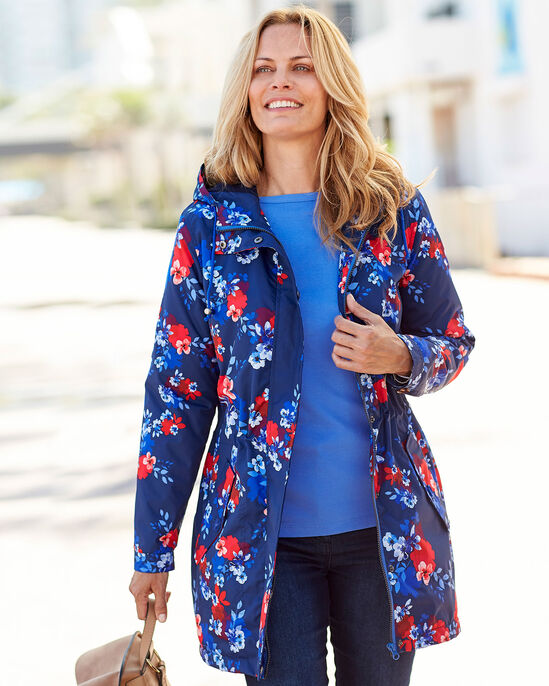 Showerproof Fleece Lined Printed Jacket