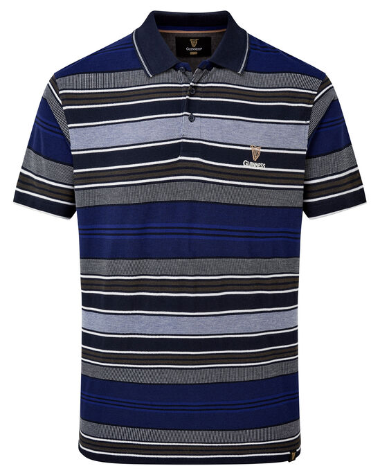 Guinness® Short Sleeve Birdseye Stripe Polo Shirt