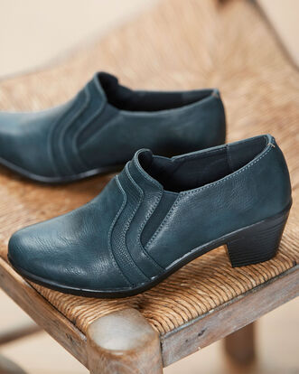 Heeled Elasticated Trouser Shoes