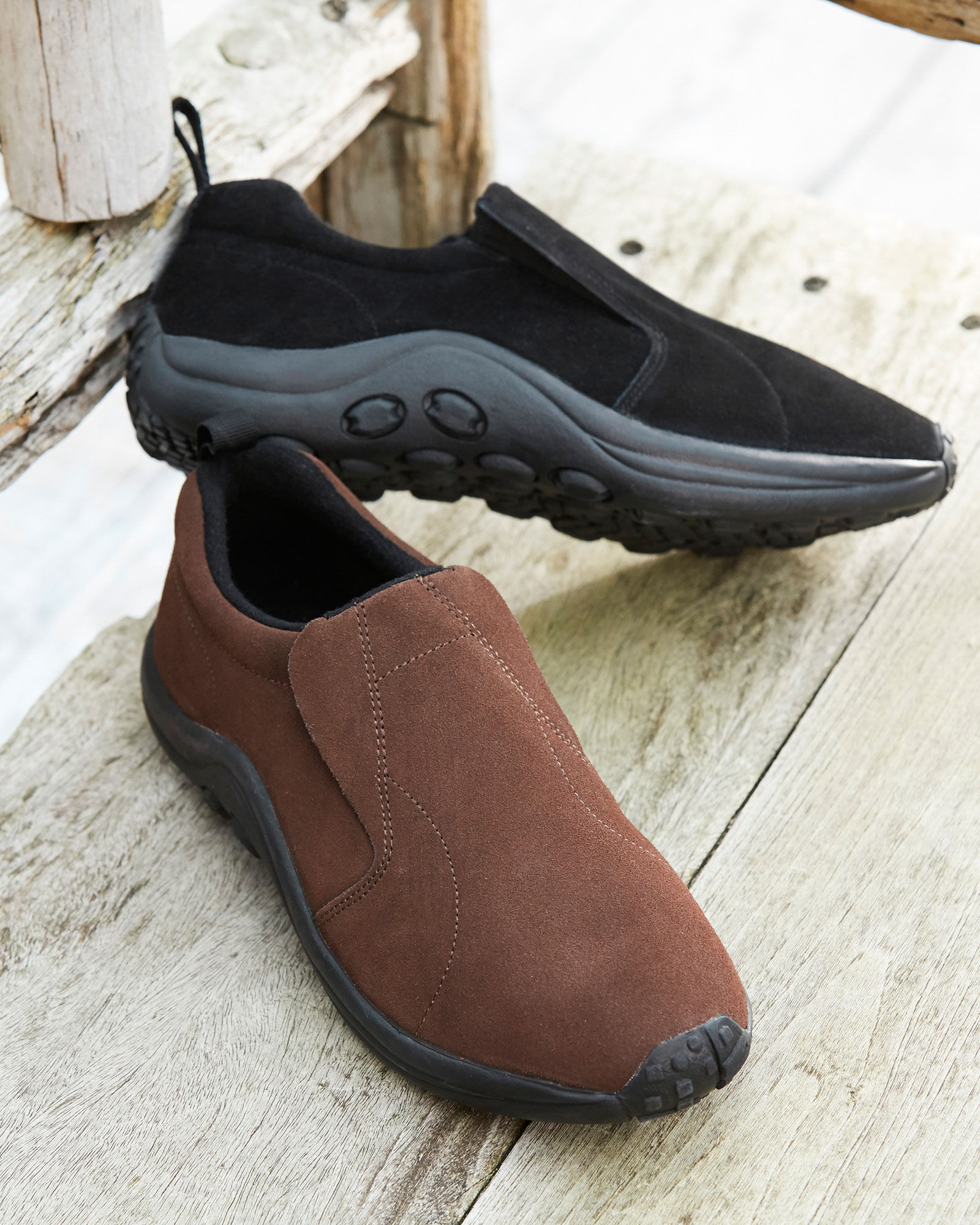 Wide Fit Suede Slip-ons at Cotton Traders