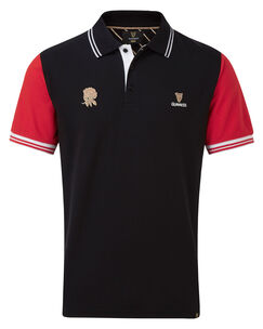 Guinness Short Sleeve England Polo Shirt