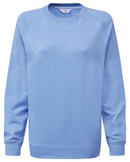 Crew Neck Plain Sweatshirt