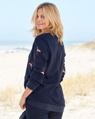 Longline Embroidered Sweatshirt